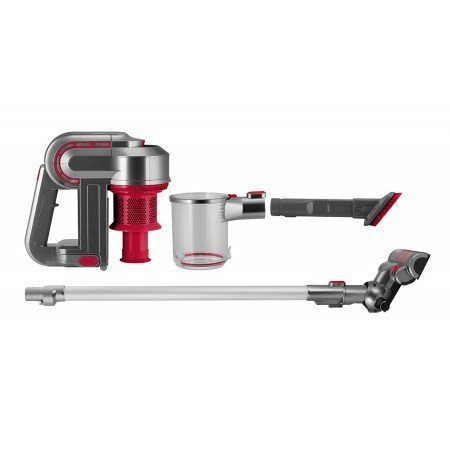 Kalorik Red/Silver 2-in-1 Cordless Cyclonic Vacuum Cleaner 2-in-1, Red