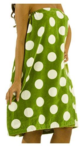 byLora Polka Terry Women Bath Wraps - Apple - ()