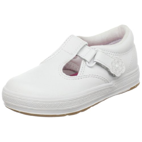 Keds girls Daphne T-Strap Sneaker , White, 12 W US Little Kid (Best Cyber Monday Deals On Washers And Dryers)