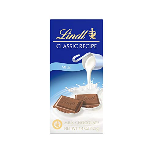 - Lindt Classic Recipe Milk Chocolate Bar, 4.4 Ounce (Pack of 12), Packaging May Vary