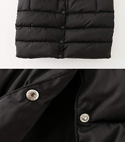 Noir Des Mm Femmes Xl Graisse Mince Xxxl En Long Noir Acvxz Plus Coton Et Engrais Gilet Hiver Robe couleur Taille EwzXqa