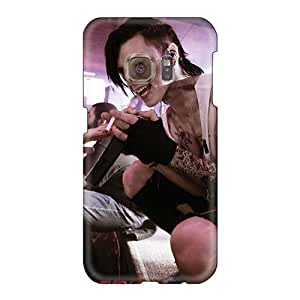 Bumper Hard Phone Cover For Samsung Galaxy S6 With Unique Design Nice Black Veil Brides Band BVB Pictures CharlesPoirier