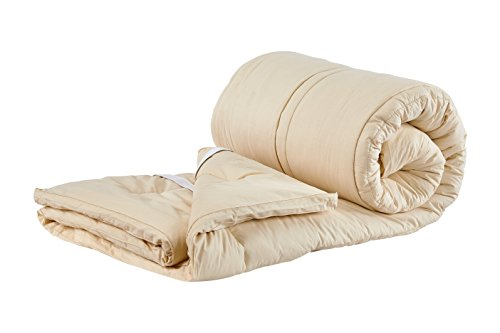- Sleep & Beyond 76 by 80-Inch Organic Merino Wool Mattress Topper, King, Ivory