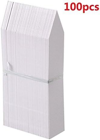 100 piezas de marcadores de etiquetas de plantas blancas ...