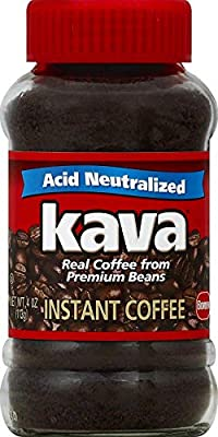 Kava Reduced Acid Neutralized Instant Coffee, 4 Ounce Jar by J.M. Smucker Company