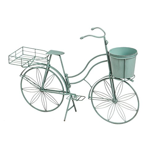 Bicycle Garden (Cape Craftsmen Vintage Teal Bicycle Planter Outdoor Safe Décor)