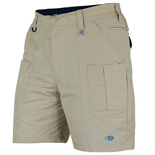 Mossy Oak Men's Men's XTR Fishing Shorts, Light Khaki, 3X-Large (Fishing Swim Trunks)