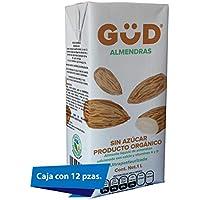GÜD Alimento Líquido de Almendra sin Azúcar Ultrapasteurizado, 1L x 12 piezas