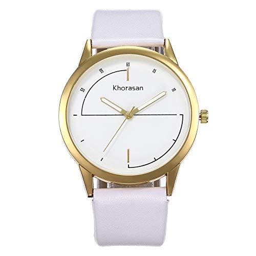 Fesjoy Women Simple PU Leather Band Watch Simple Casual Alloy Case Quartz Wrist Watch