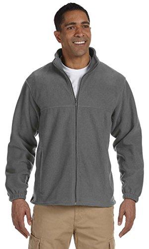 Harriton Mens Full Zip Fleece (Harriton Mens Tall 8oz. Full-Zip Fleece (M990T) -CHARCOAL -XLT)