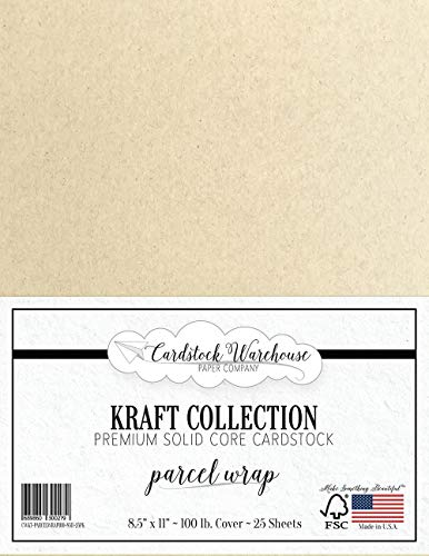 (Parcel WRAP Kraft Recycled Cardstock - 8.5