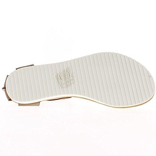 Schwarze Sandalen mit weißer Sohle