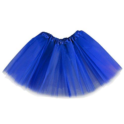 Kids Girls 3-Layered Ballet Tutu Costume Party Dance Dancing Skirt / 3-10 Years (Royal Blue)