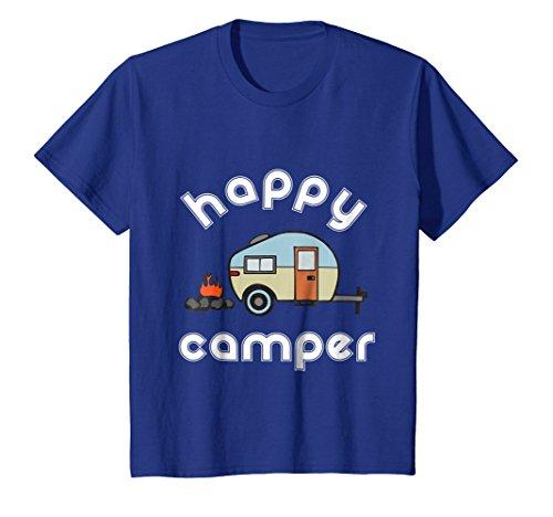 Happy Camper Camping T-shirt - Camper Trailer Fire Tee