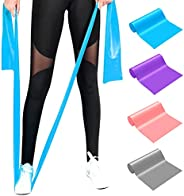 FUDOSAN Resistance Bands, Professional Exercise Elastic Bands Long Natural Latex Stretch Band, Perfect for Str