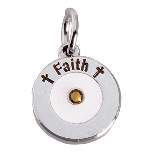 Faith Mustard Seed Charms Silver Set of 2 by Sterling Gifts (Genuine Mustard Seed)
