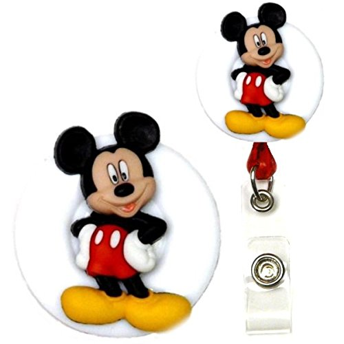 Mickey Mouse Real Charming Premium Decorative ID Badge Holder (Mickey Swivel -