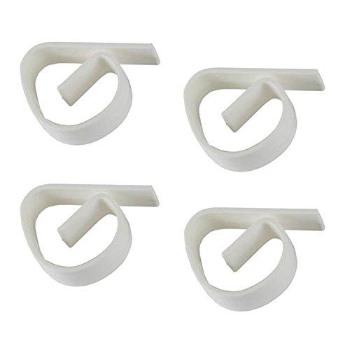 12pezzi di plastica Tovaglia Morsetto per tavoli da giardino, colore bianco, resistente alle intemperie e robusto Lantelme