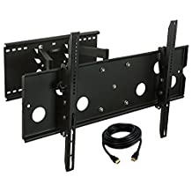 Mount-It! TV Wall Mount Bracket Heavy Duty Articulating Full Motion for OLED, LCD, LED, Plasma 32-60-Inch TV, 175lbs-(80kg) Capacity, VESA patterns up to 750 x 450 – 20.25'' Extension, HDMI Cable Included, Black (MI-310B)