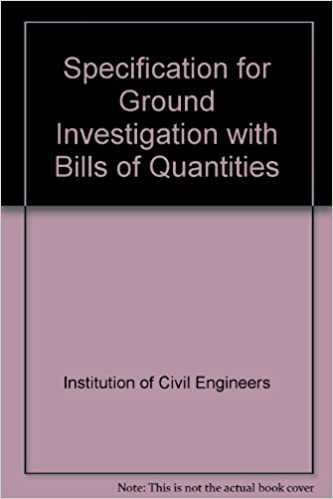 Specification for Ground Investigation with Bills of Quantities