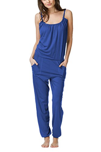 Pink Queen Womens Casual Blue Cami Top Harem Pants Daily Outfits (Womens Cami Top Pants)