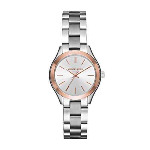 - Michael Kors Women's Mini Slim Runway Silver-Tone Watch MK3514