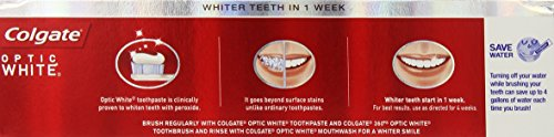 Colgate Optic White Whitening Toothpaste, Sparkling Mint - 5 ounce (6 Pack) by Colgate (Image #4)