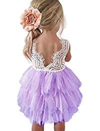 Amazon purples dresses clothing clothing shoes jewelry backless a line lace back flower girl dress mightylinksfo