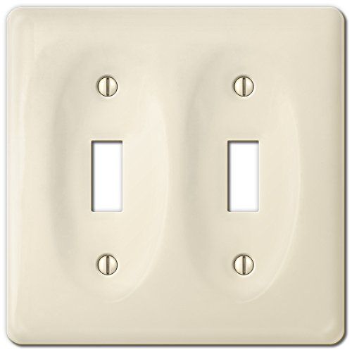 Amerelle 3020TTBT Allena Biscuit Ceramic 1 Toggle (Ceramic Wall Switchplate)