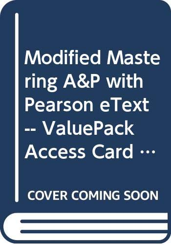 Modified Mastering A&P with Pearson eText -- ValuePack Access Card -- for Human Anatomy & Physiology Laboratory