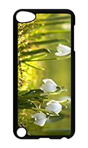 Ipod 5 Case,MOKSHOP Adorable snowdrop flower Hard Case Protective Shell Cell Phone Cover For Ipod 5 - PC Black