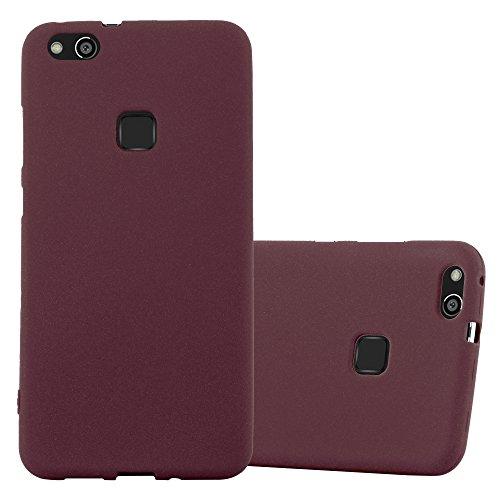 Cadorabo - Cubierta protectora para >                          Huawei P10 LITE                          < de silicona TPU en diseño Escarcha �?Case Cover Funda Carcasa Protección in FROST-LILA-BURDEOS FROST-LILA-BURDEOS