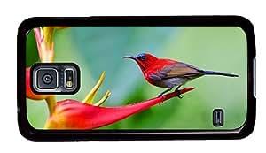 Hipster Samsung Galaxy S5 Case brand new cases crimson sunbird PC Black for Samsung S5