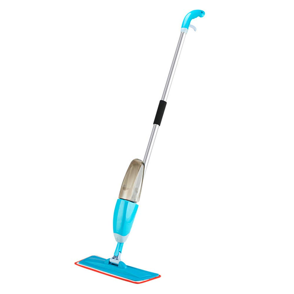 TQZY Floor Mop with Integrated Spray - Included Refillable Large Milliliter Capacity Bottle and Reusable Microfibre Pad,Blue