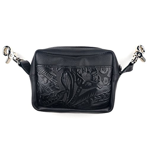 Genuine Purse Leather Soft Side Tooled Floral nxY6RgwqY8