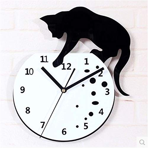 Amazon.com: KAWEAZ Creative Personality Mute Wall Clock Cat Wandklok Wanduhr Kitchen Home Decor Relojes Pared Relojes De Cocina Acrylic Quartz: Home & ...