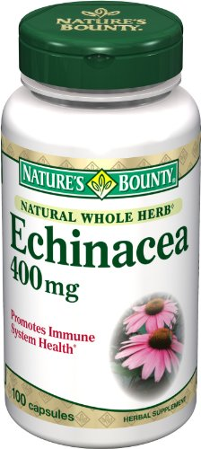 Nature Bounty Natural Herb échinacée entier 400mg, 100 Capsules (pack de 2)