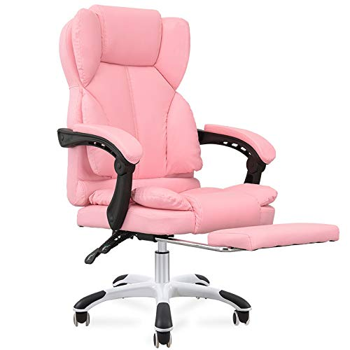 JXHD Ergonomic Gaming Chair/E-Sports Chair/Recliner/Swivel Armchair- High Back Computer Swivel Office Chair with Footstool,Multi-Color ()