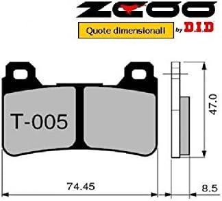 45T00500 PASTIGLIE FRENO ZCOO ANTERIORE 2008-2013 T005 EX HONDA CB 1000 R SC-60