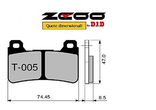 45T00500 PASTIGLIE FRENO ZCOO ANTERIORE T005 EX HONDA CBR 600 RR 2005-2006