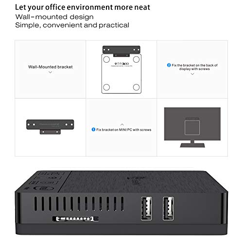 Beelink BT3Pro Mini PC 4K HD Mini Desktop Computer with Intel Atom x5-Z8350  Windows 10 4GB+64G/4K/1000Mbps/HDMI/VGA/2 4G+5 8G Dual WiFi