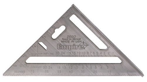 Empire Level 2990 Heavy Duty Magnum Rafter Square 7-1/2-Inch Length by Empire Level