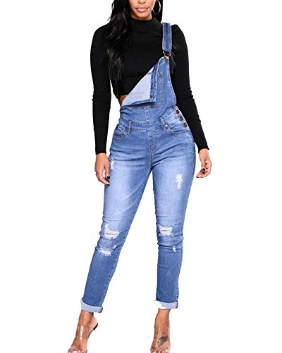 Salopettes Femmes Pantalon Combinaisons Bleu Push Guiran Denim Skinny Clair Dchir Jeans Up Cd5TXwqzH