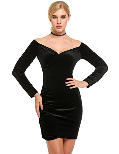 ANGVNS Women Bodycon Shoulder Sleeve