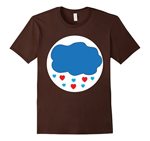 Care Bear Family Costume (Mens Care Cloud Heart Bears Halloween Group Costume TShirts Large Brown)
