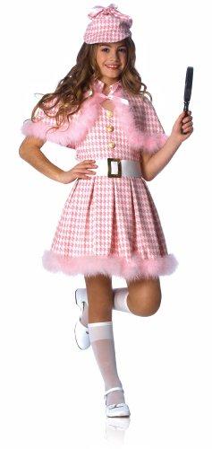 Pink Detective Kids Costume