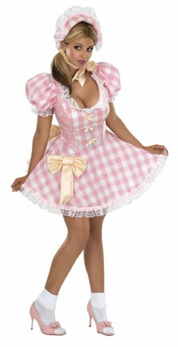 Secret Wishes Women's Bo Peep Sassy Adult Costume, Pink/White, Small -