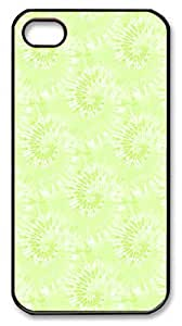 IMARTCASE iPhone 4S Case, Lime Green Tie Dye Seamless PC Black Hard Case Cover for Apple iPhone 4S/5 by heywan