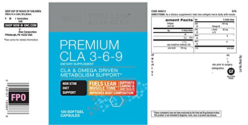 GNC Total Lean Advanced Premium CLA 3-6-9, 120 Softgel Capsules, Supports Exercise and Muscle Recovery by GNC (Image #4)
