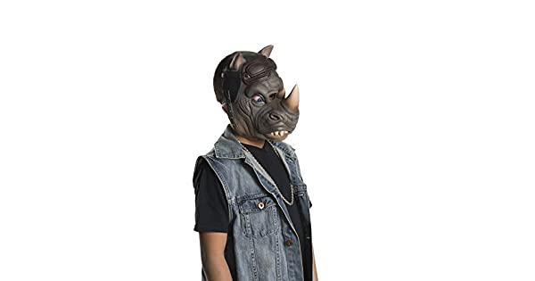 Amazon.com: Rubies TMNT 2 Rocksteady Niño Mask-, Estándar ...